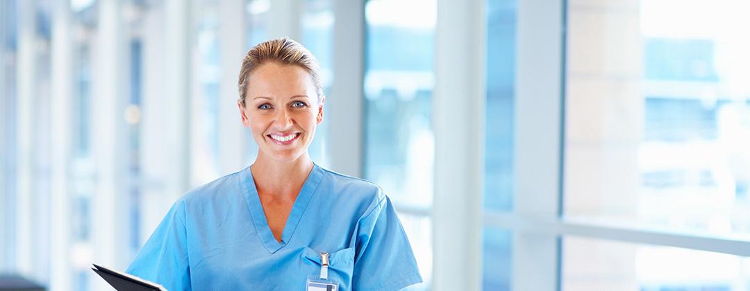 Nurse in hallway