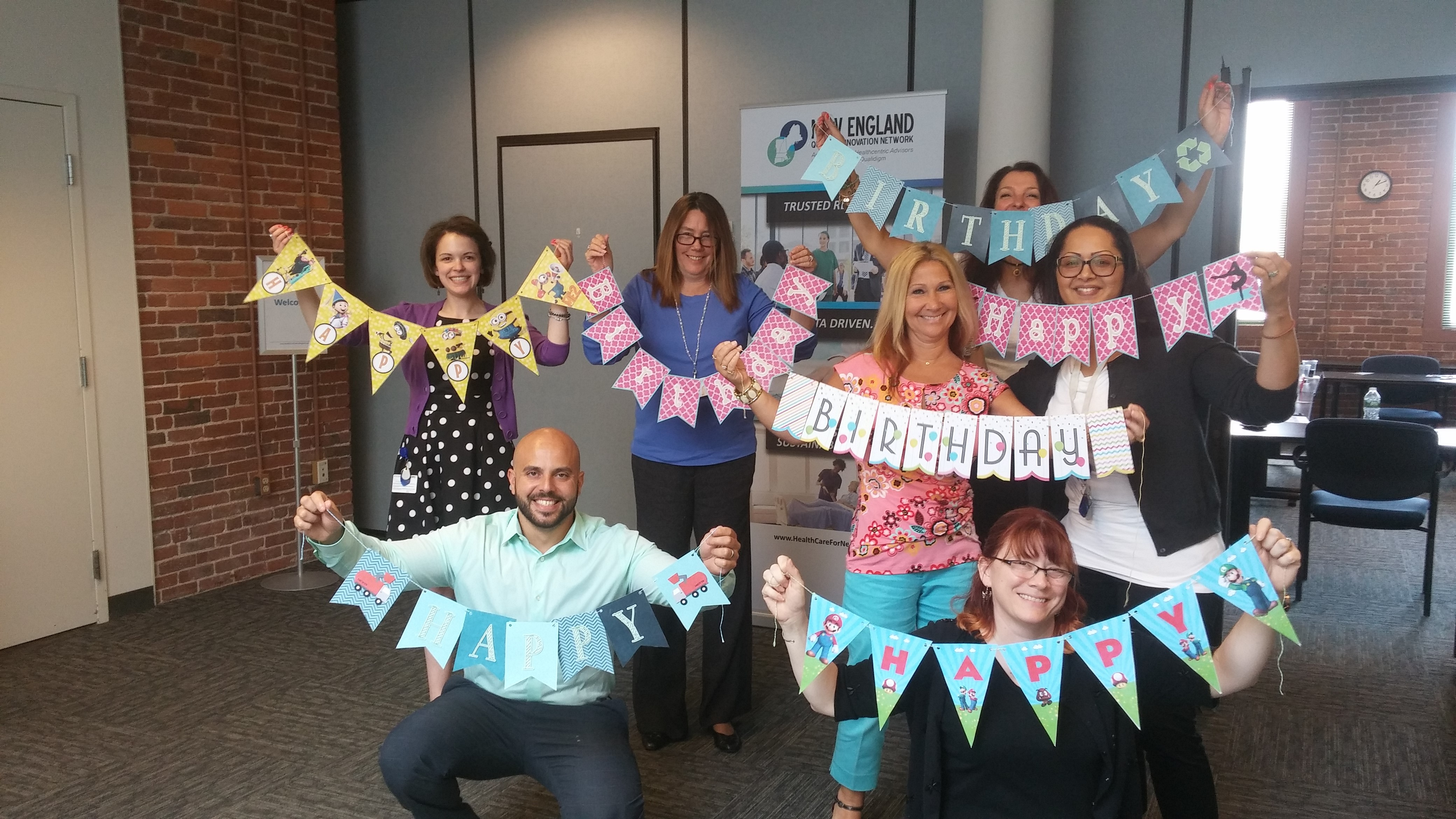 Volunteering with the Confetti Foundation to create birthday banners and cards for children who spend birthdays in the hospital