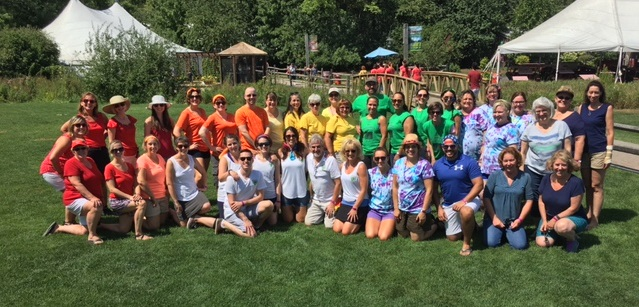 Company Summer Outing to get associates out of the office and outdoors for fun, team-building activities