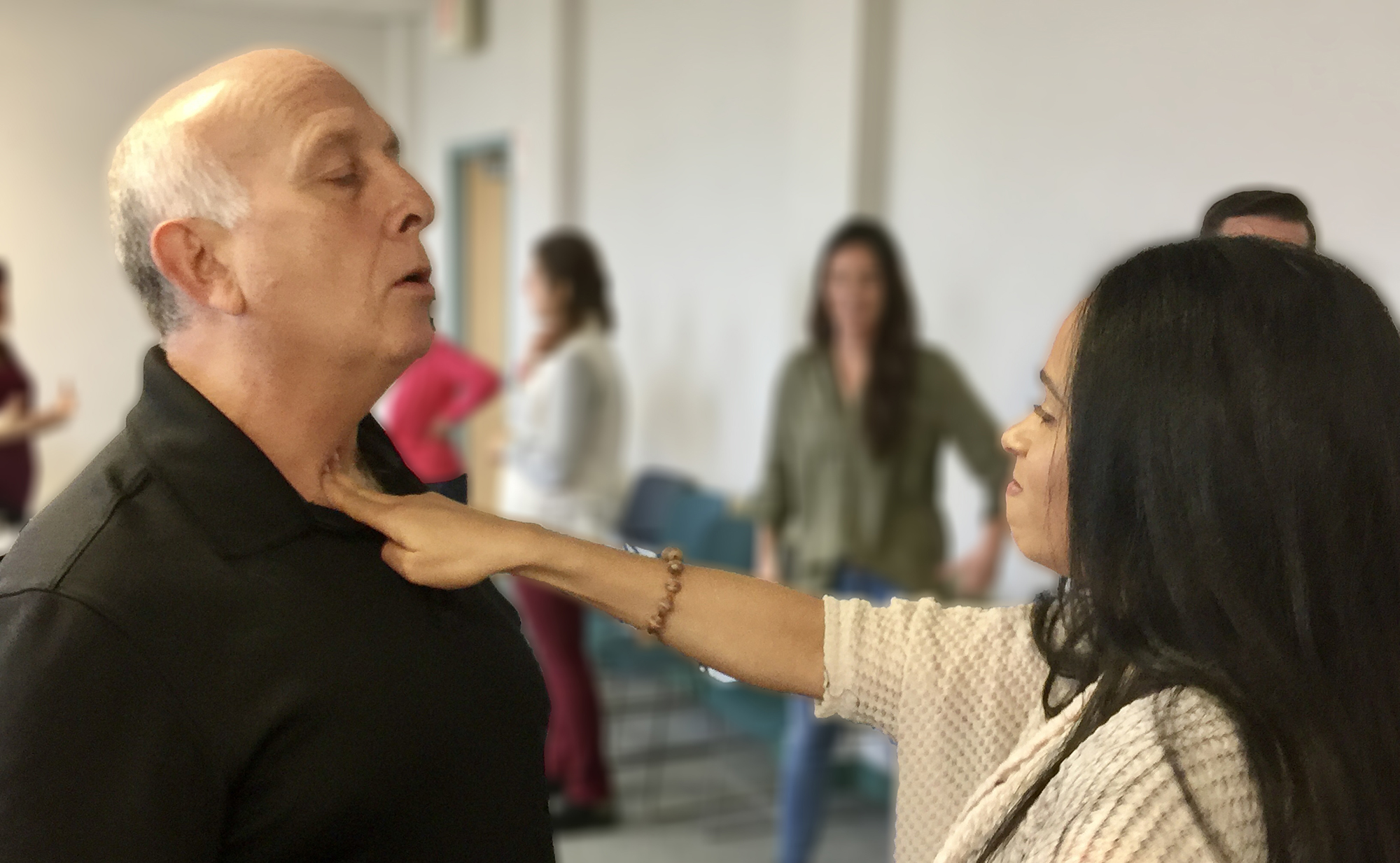 Wellness Fairs offer associates the chance to participate in blood pressure screenings, skin checks, massages, and self-defense training
