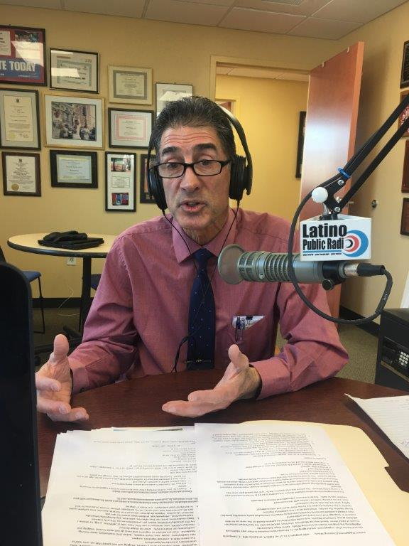 Dr. Campanile at Latino Public Radio