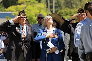 Veterans standing