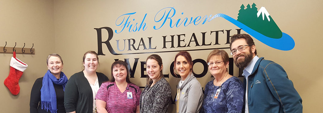 Susan Whittaker and Michael Pancook with Fish River Rural Health in Fort Kent