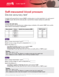 Self-Measured Blood Pressure Device Accuracy Test