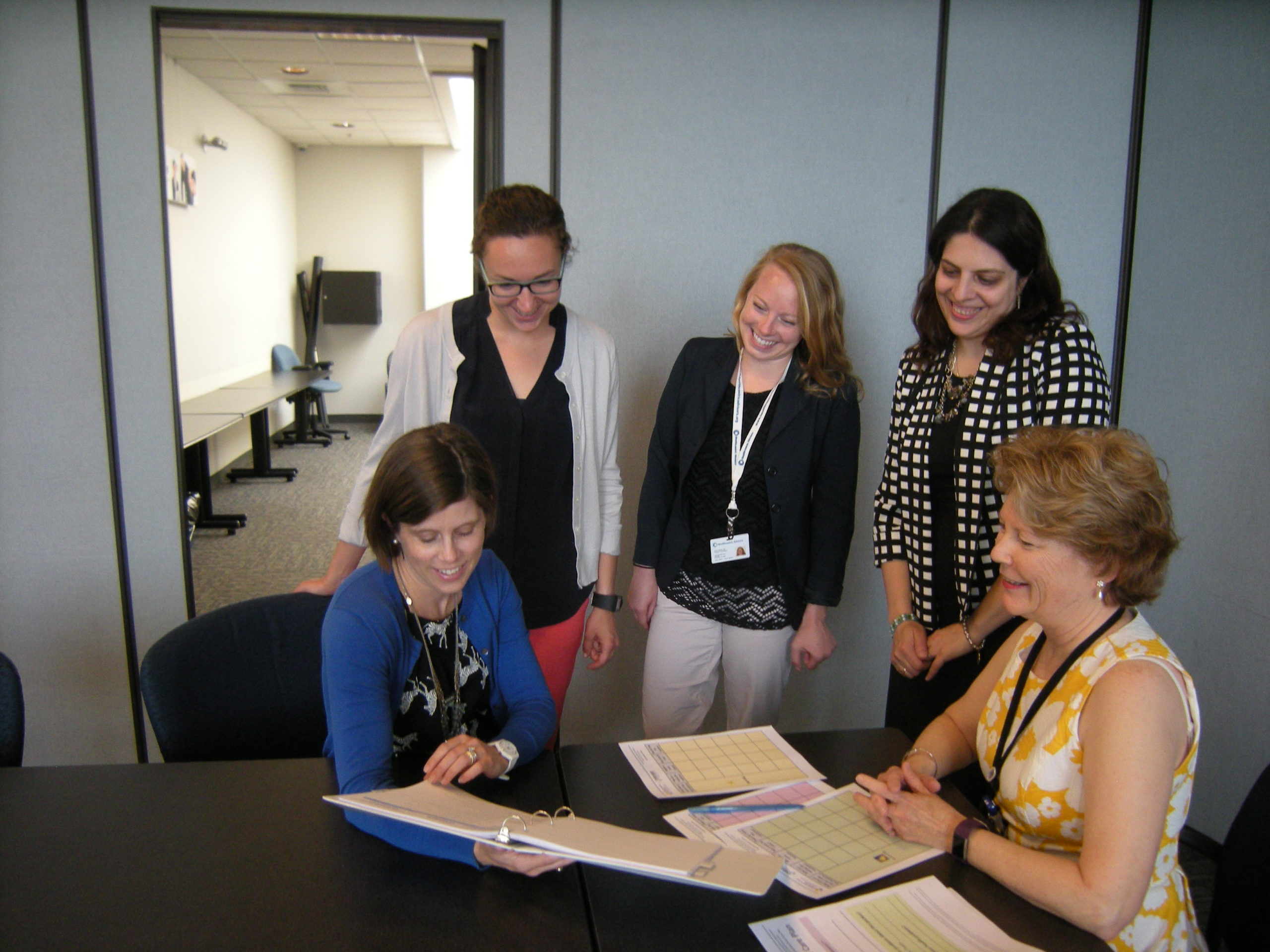 NE QIN Special Innovation Project Team reviewing  the project toolkit